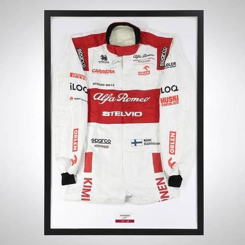 Photo of Kimi Raikkonen 2020 Framed Signed Official Replica Race Suit