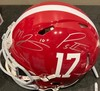 Alabama Multi Signed Helmet - Devonta Smith, Jaylen Waddle, Mac Jones, Patrick Surtain, and Christian Barmore - Signed at 2021 NFL Draft