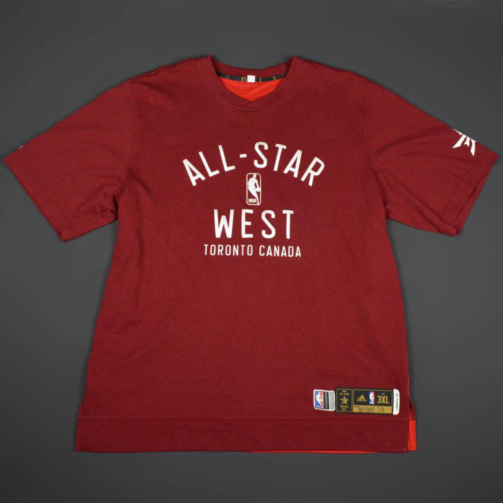 f4923367a84 Kobe Bryant - 2016 NBA All-Star Game - Western Conference - Warmup-Worn