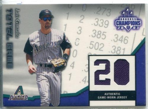 Photo of 2003 Donruss Champions Total Game Materials #11 Luis Gonzalez Jsy/200
