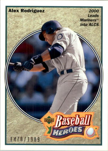 Photo of 2002 UD Authentics Heroes of Baseball #HBR7 Alex Rodriguez Mariners