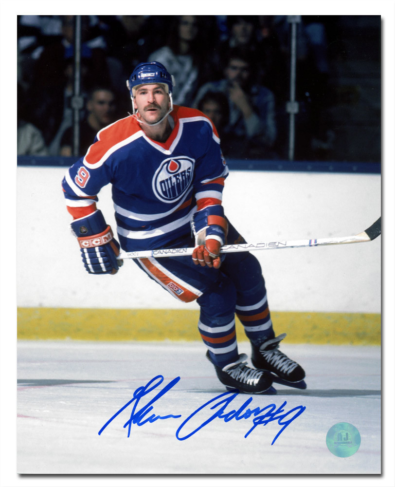 Glenn Anderson Edmonton Oilers Autographed Hockey Action 8x10 Photo