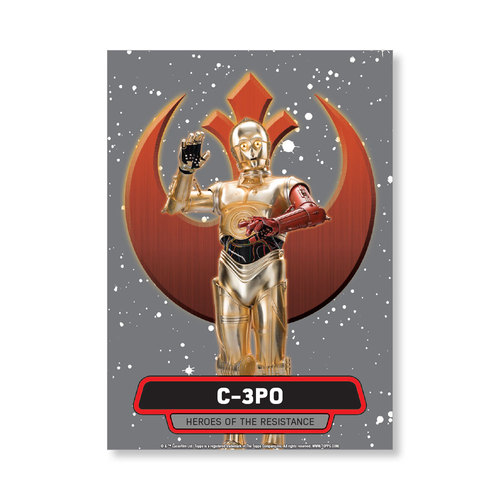 C-3PO 2016 Star Wars The Force Awakens Chrome Metal Poster - # to 99