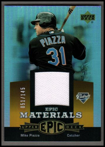 Photo of 2006 Upper Deck Epic Materials Orange #MP1 Mike Piazza Jsy/145