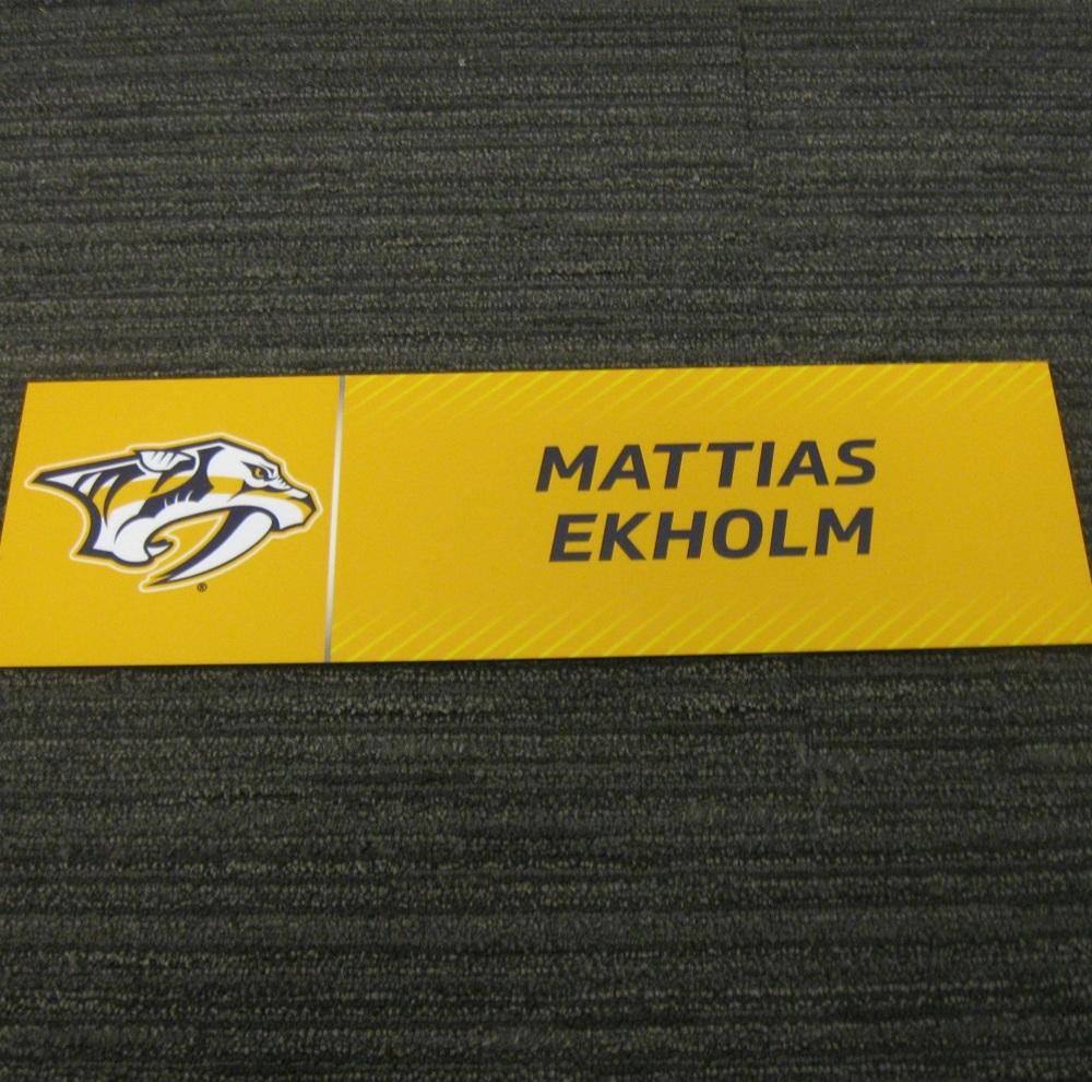 Mattias Ekholm 2017 Stanley Cup Final Media Name Plate - Nashville Predators