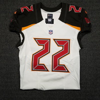 CRUCIAL CATCH - BUCCANEERS DOUG MARTIN GAME WORN BUCCANEERS JERSEY (OCTOBER 29, 2017) JERSEY WASHED BY EQUIPMENT MANAGER, SIZE 42