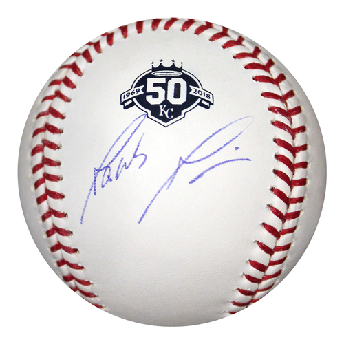 Photo of Autographed 50th Season Baseball: Jakob Junis