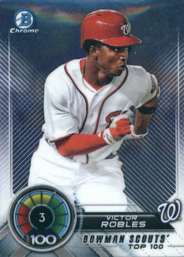 Photo of 2018 Bowman Chrome Scouts Top 100 #BTP3 Victor Robles