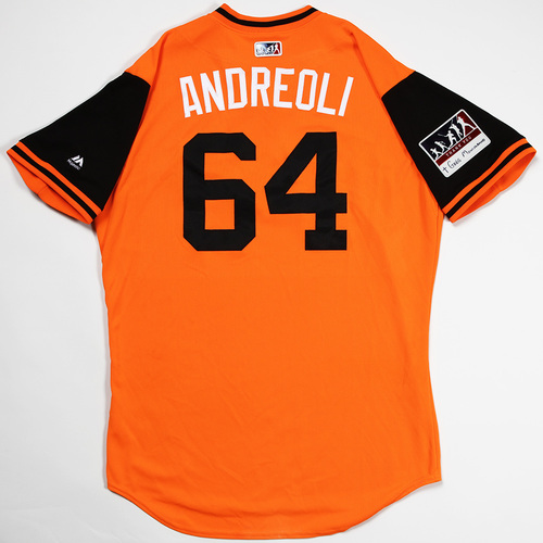 "Photo of John ""Andreoli"" Andreoli Baltimore Orioles Game-Used 2018 Players' Weekend Jersey"