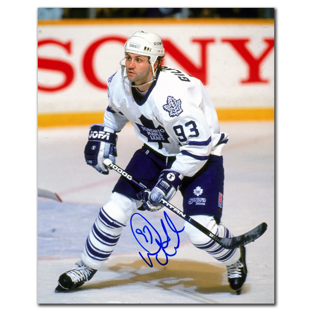 Doug Gilmour Toronto Maple Leafs WHITE JERSEY Autographed 16x20
