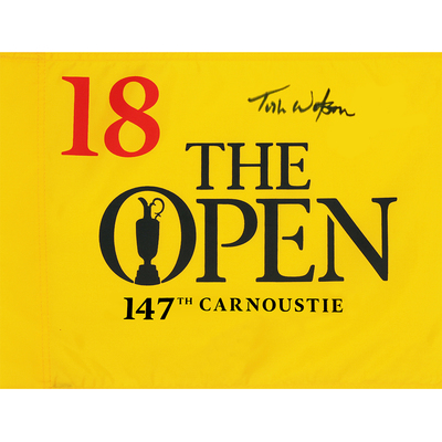 Tom Watson, The 147th Open Carnoustie Autographed Souvenir Pin Flag