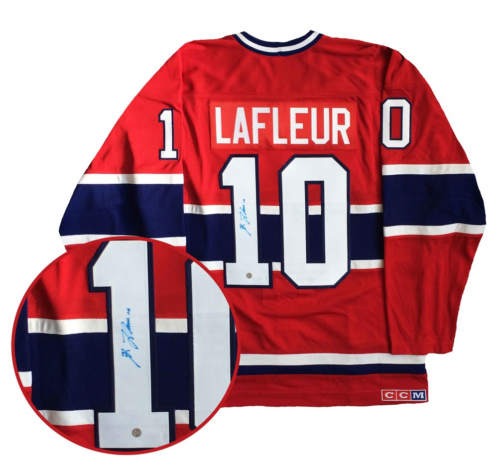 aed96052c Guy Lafleur Signed Jersey Canadiens Replica Red Vintage CCM - NHL ...