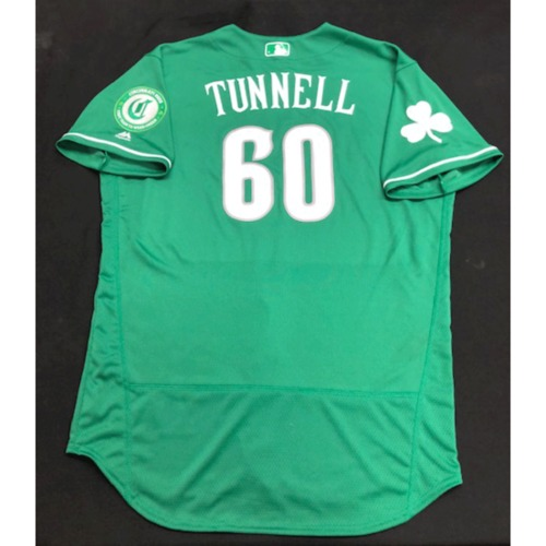Photo of Lee Tunnell -- Game-Used Jersey -- 2019 St. Patrick's Day