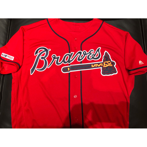 Ender Inciarte Game-Used Autographed Jersey