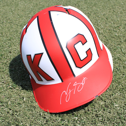 Salute to the Negro Leagues Autographed Helmet: Terrance Gore (Size 7 - MIN at KC - 6/23/19)