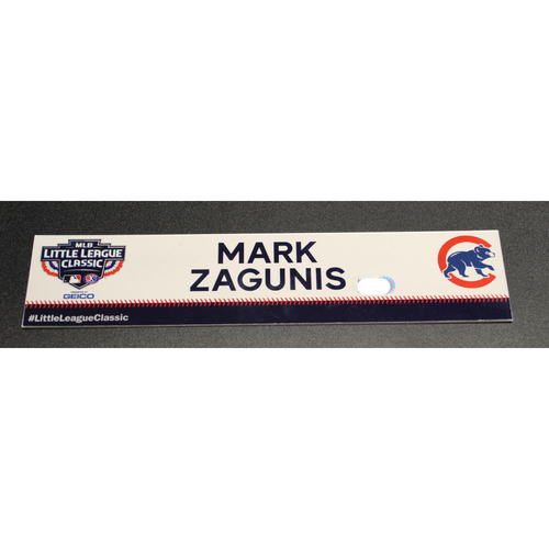Photo of 2019 Little League Classic - Game Used Locker Tag - Mark Zagunis,  Chicago Cubs at Pittsburgh Pirates - 8/18/2019