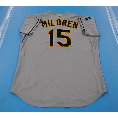 Photo of 2006 Inaugural World Baseball Classic: Paul Mildren Game-worn Team Australia Road Jersey