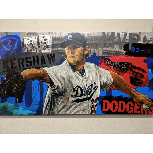 Photo of Clayton Kershaw Autographed Stephen Holland Giclée Canvas Mono