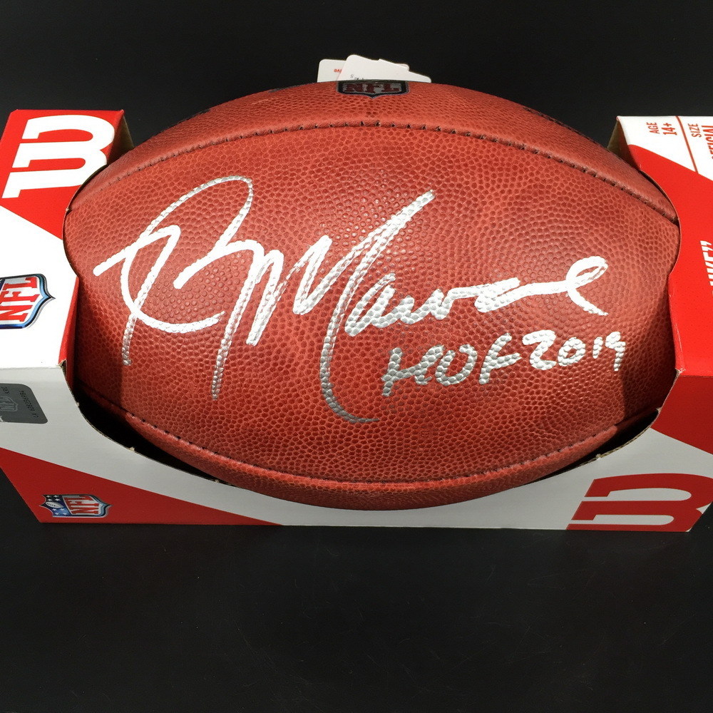 HOF - Jets Kevin Mawae Signed Authentic Football W/ 100 Seasons Logo