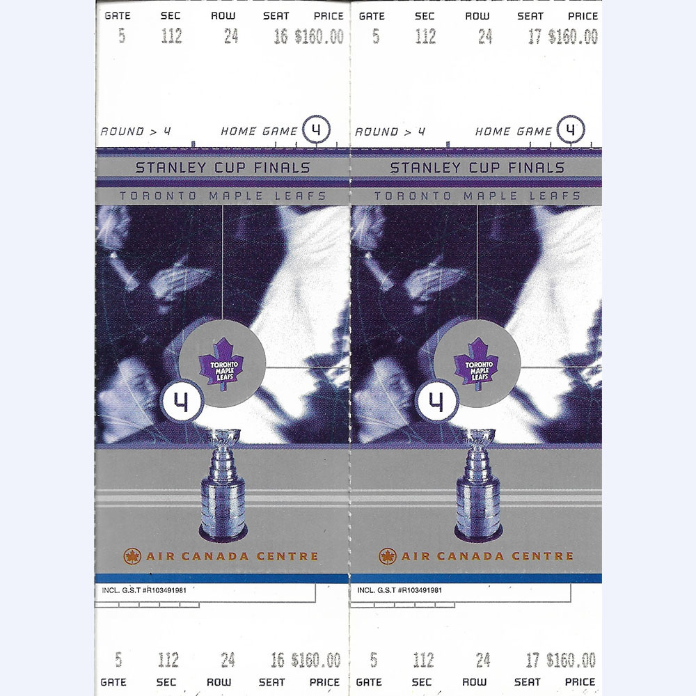 Toronto Maple Leafs Round 4 - Stanley Cup Final Tickets (Early 2000s)
