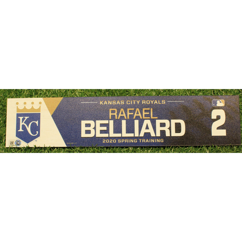 Photo of Game-Used 2020 Spring Training Locker Tag: Rafael Belliard #2