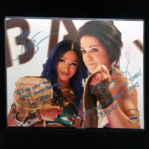 Sasha Banks and Bayley SIGNED The Horror Show at Extreme Rules Exclusive 11x14 Photo (#1 of 30)