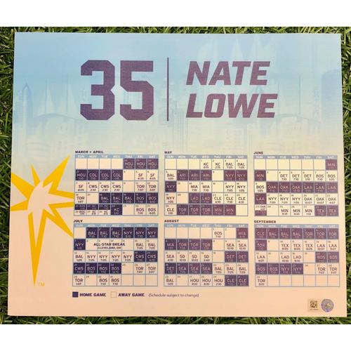 Photo of Rays Baseball Foundation: Team Issued Locker Tag: Nate Lowe - 2019 Season