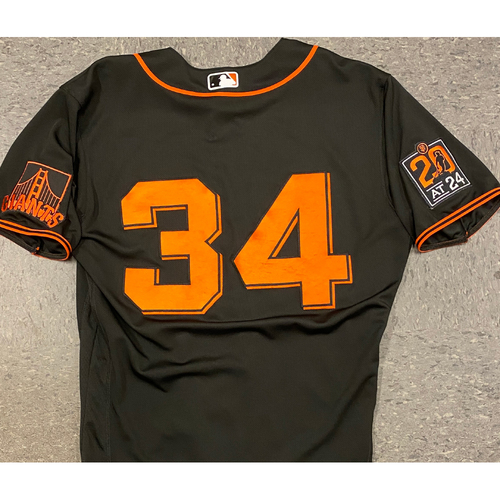 Photo of 2020 Team Issued Black Home Alt Jersey - #34 Kevin Gausman - Size 44