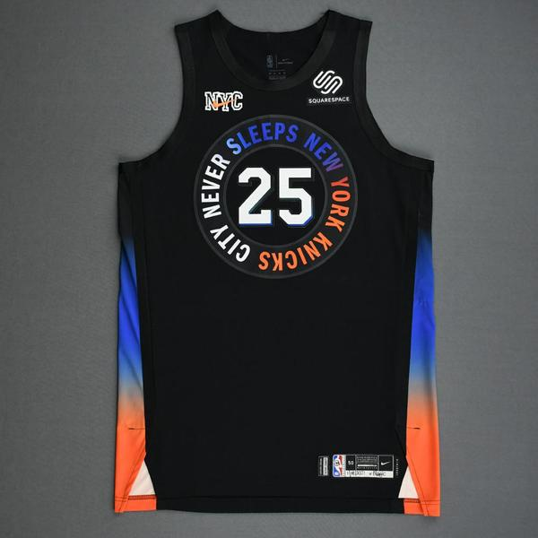 Image of Reggie Bullock - New York Knicks - Game-Worn City Edition Jersey - 2020-21 NBA Season