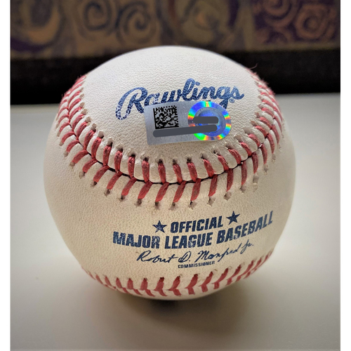 Photo of Game-Used Baseball:  Triston McKenzie Cleveland Indians Strikeout (MLB AUTHENTICATED)