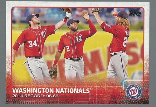 Photo of 2015 Topps #160 Washington Nationals