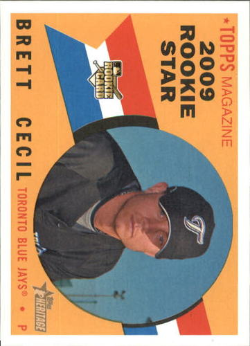 Photo of 2009 Topps Heritage #529 Brett Cecil RC