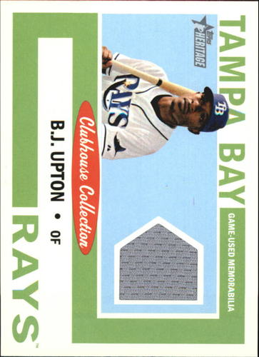 Photo of 2013 Topps Heritage Clubhouse Collection Relics #BU B.J. Upton