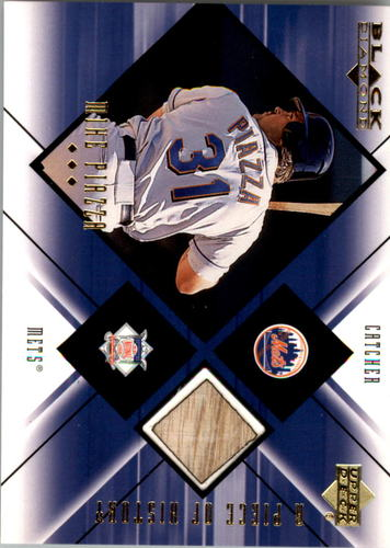 Photo of 2000 Black Diamond A Piece of History #MP Mike Piazza Bat Relic Card METS