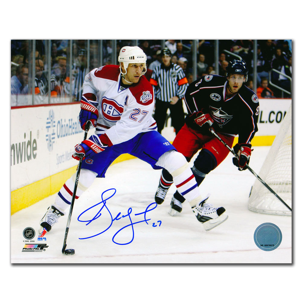 Alex Kovalev Montreal Canadiens vs. COLUMBUS Autographed 8x10