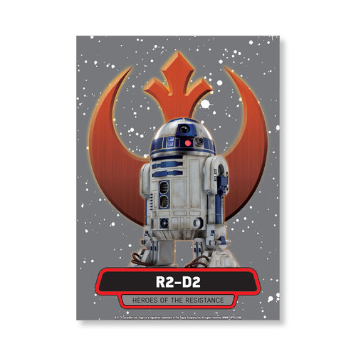 R2-D2 2016 Star Wars The Force Awakens Chrome Metal Poster - # to 99