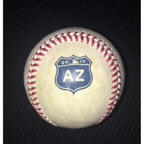 Game-Used Baseball from March 17, 2017; Spring Training