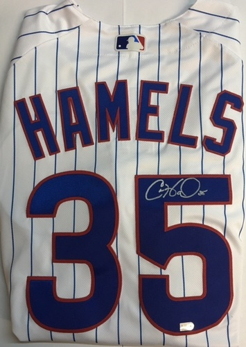 Photo of Cole Hamels Autographed Authentic Cubs Jersey