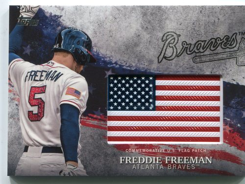 Photo of 2018 Topps Independence Day U.S. Flag Relics #IDMLFF Freddie Freeman