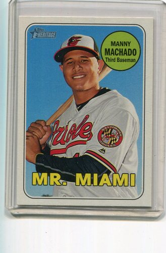 Photo of 2018 Topps Heritage Nickname Variations #151 Manny Machado -- 2018 All-Star