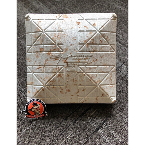 Photo of 2018 San Francisco Giants - Game Used Base - #25 Number Retirement Game - August 11, 2018 vs Pittsburgh Pirates - 2nd Base From Innings 7-9 (includes a FREE Commemorative #25 Retirement Patch)