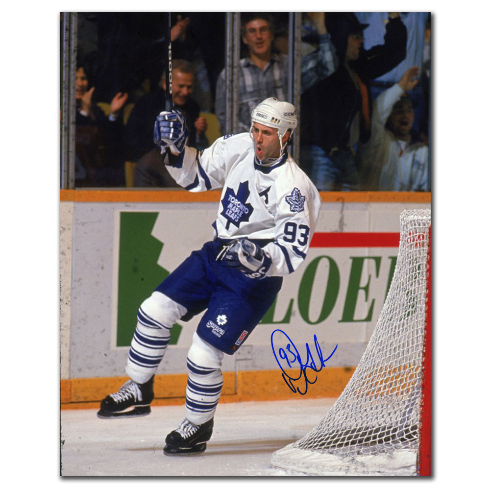 Doug Gilmour Toronto Maple Leafs GOAL CELEBRATION Autographed 16x20