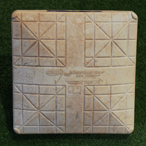 Photo of Game-Used 2nd Base: Greg Garcia RBI Double, Marcell Ozuna RBI Double, & Paul DeJong 37th Career Home Run (Innings 6-9 - STL @ KC - 8/12/18)