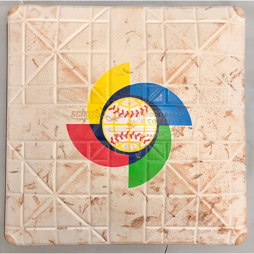 Photo of 2017 World Baseball Classic Game Used Base- 3rd Base (Venezuela at Italy)