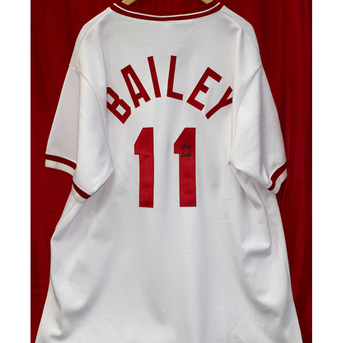 Photo of Bob Bailey Signed Jersey