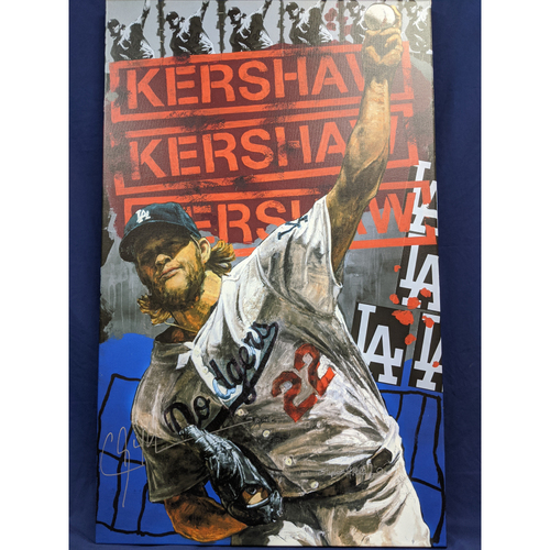 Photo of Clayton Kershaw Autographed Stephen Holland Giclée Canvas