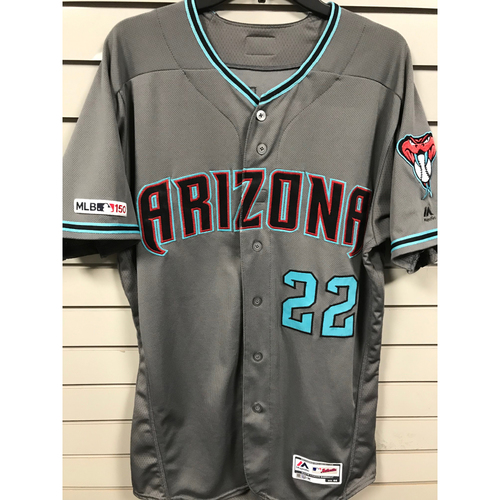 Photo of Jake Lamb 2019 Team-Issued Road Alternate Jersey