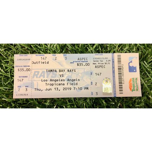 Photo of Rays Baseball Foundation: Replica Game Ticket - Shohei Ohtani Cycle Game - June 13, 2019 v LAA