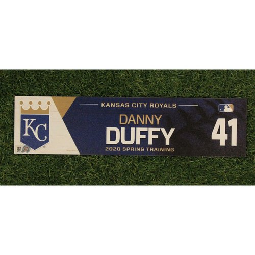 Photo of Game-Used Spring Training Locker Tag: Danny Duffy #41