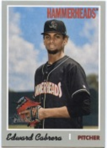 Photo of 2019 Topps Heritage Minors #175 Edward Cabrera